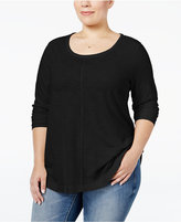 Style&Co. Style & Co. Plus Size Long-Sleeve T-Shirt, Only at Macy's