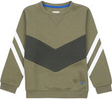 Armani Junior Stripe cotton-jersey sweatshirt 4-16 years