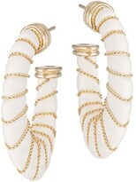 Thumbnail for your product : Gas Bijoux Cyclade Chain-Wrapped Acetate Hoop Earrings