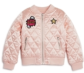 Design History Girls' Quilted Patch Bomber Jacket - Little Kid