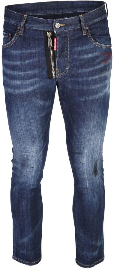 DSQUARED2 Blue Cropped Jeans