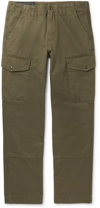 Belstaff Herringbone Cotton-Twill Cargo Trousers