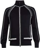 Valentino Beaded-detailed track jacket