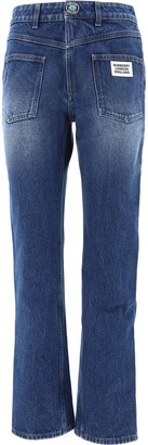 Burberry Logo Detail Straight-Leg Reconstructed Jeans
