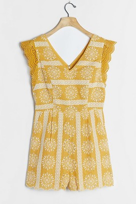 Skies Are Blue Ginny Embroidered Eyelet Playsuit