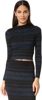 KENDALL + KYLIE Stripe Long Sleeve Sweater