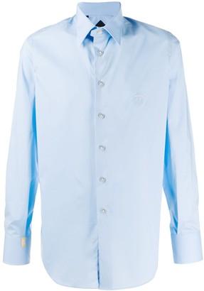 Billionaire Embroidered Logo Long Sleeve Shirt