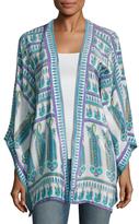 Calypso St. Barth Ezahya Silk Printed Kimono Jacket