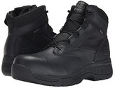 Timberland 6 Valortm Duty Composite Safety Toe Waterproof Side-Zip (Black) Men's Work Lace-up Boots