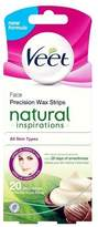 Veet Natural Inspirations Face Precision Wax Strips x20
