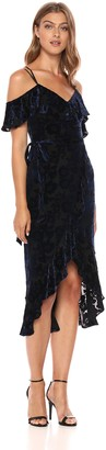 Ali & Jay Women's Reigning Queen Cold Shoulder Velvet Midi Dress