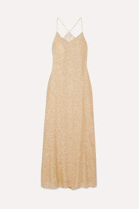 Marie France Van Damme - Silk And Lurex-blend Maxi Dress - Gold