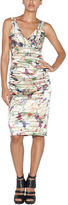 Nicole Miller Abstract Print Pleated Sheath Dress