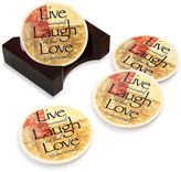Bed Bath & Beyond Words to Live By Round Coasters (Set of 4)