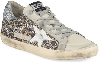 Golden Goose Superstar Leopard Embellished Sneakers