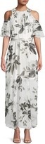Calvin Klein Collection Floral-Print Chiffon Maxi Dress