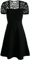 Valentino lace cap sleeve dress - women - Polyester/Viscose - S