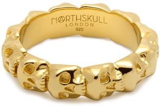 Northskull Medius Skull Band Ring In Gold