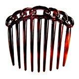 Caravan 9 Teeth Chain Like Design Tortoise Shell French Twist Comb, 0.5 Ounce