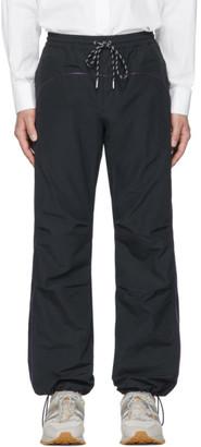 Name Navy Nylon Track Pants