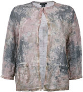 Avant Toi overdyed camouflage cardigan - women - Cotton/Linen/Flax/Resin - S