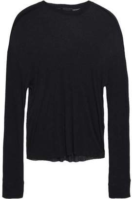RtA Ribbed Stretch-knit Top