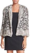 Elizabeth and James Women's Genuine Rabbit Fur Jacket