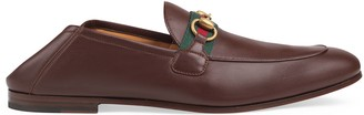 Gucci Men's leather Horsebit loafer with Web