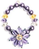 Creative Treasures Purple Flower Bracelet