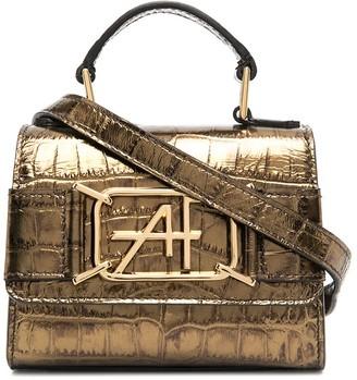 Alberta Ferretti Crocodile-Effect Mini Tote Bag