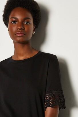 Karen Millen Broidery Sleeve T Shirt