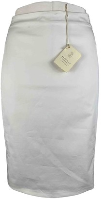 Brunello Cucinelli White Cotton Skirt for Women