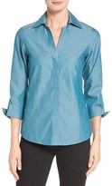 Foxcroft Petite Women's Three Quarter Sleeve Shirt