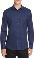 Theory Zack Heathered Slim Fit Button-Down Shirt