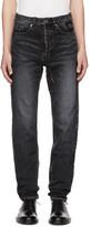 Saint Laurent Black Patch Slim Jeans