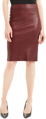 Theory Bristol Leather Skinny Pencil Skirt