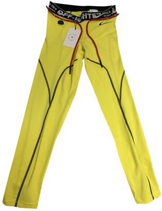 Nike x Off-White Yellow Polyester Trousers