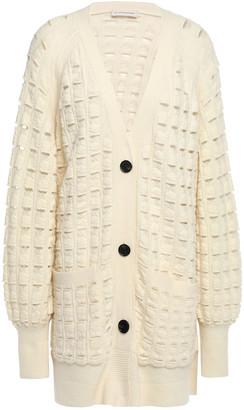 By Malene Birger Open-knit Wool-blend Cardigan