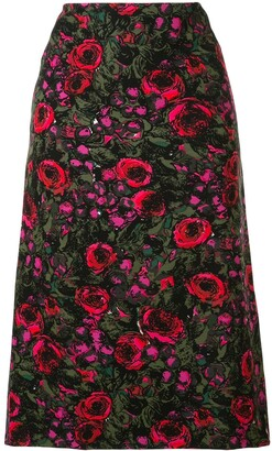 Marni Floral Print Straight-Fit Skirt