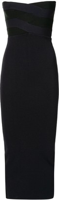 Dion Lee Strapless Fitted Midi Dress