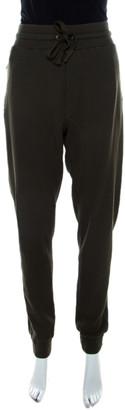 Dolce & Gabbana Military Green Waffle Knit Jogger Pants L