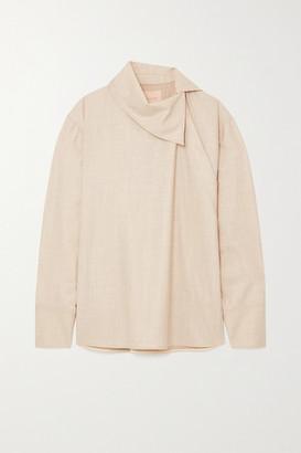 Roksanda Sierra Wool-blend Twill Blouse - Beige