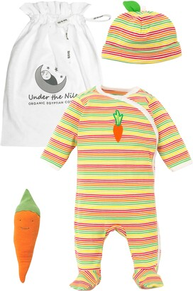 Under the Nile Veggie Stripe 3-Piece Organic Egyptian Cotton Gift Set