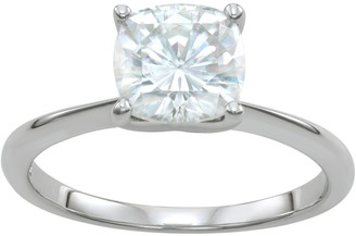 Charles & Colvard 14k White Gold 2 3/8 Carat T.W. Lab-Created Moissanite Solitaire Ring