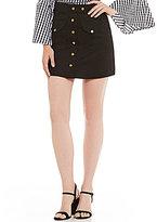 Gianni Bini Carly Button Front Cargo Skirt