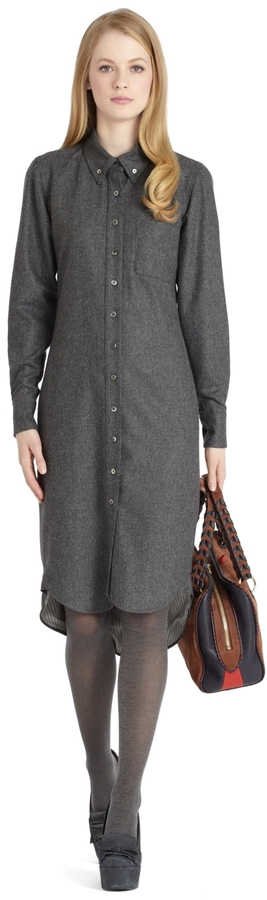 Brooks Brothers Wool Shirt Dress