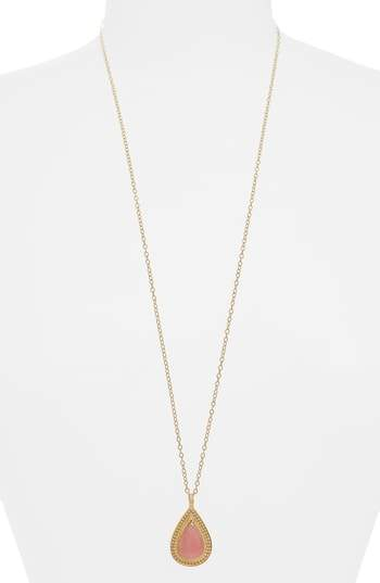 Anna Beck Guava Quartz Double-Sided Necklace