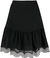 See by Chloe striped hem georgette skirt