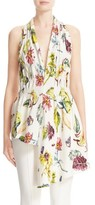 ADAM by Adam Lippes Women's Gathered Floral Print Top