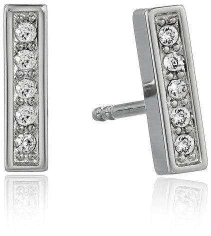 Fossil Glitz Silver Bar Earrings